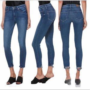 PAIGE Hoxton crop blue jeans size 29